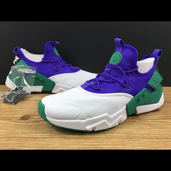 competitive price 2f21a 08cc2 New Nike Huarache Drift in white green purple NWT